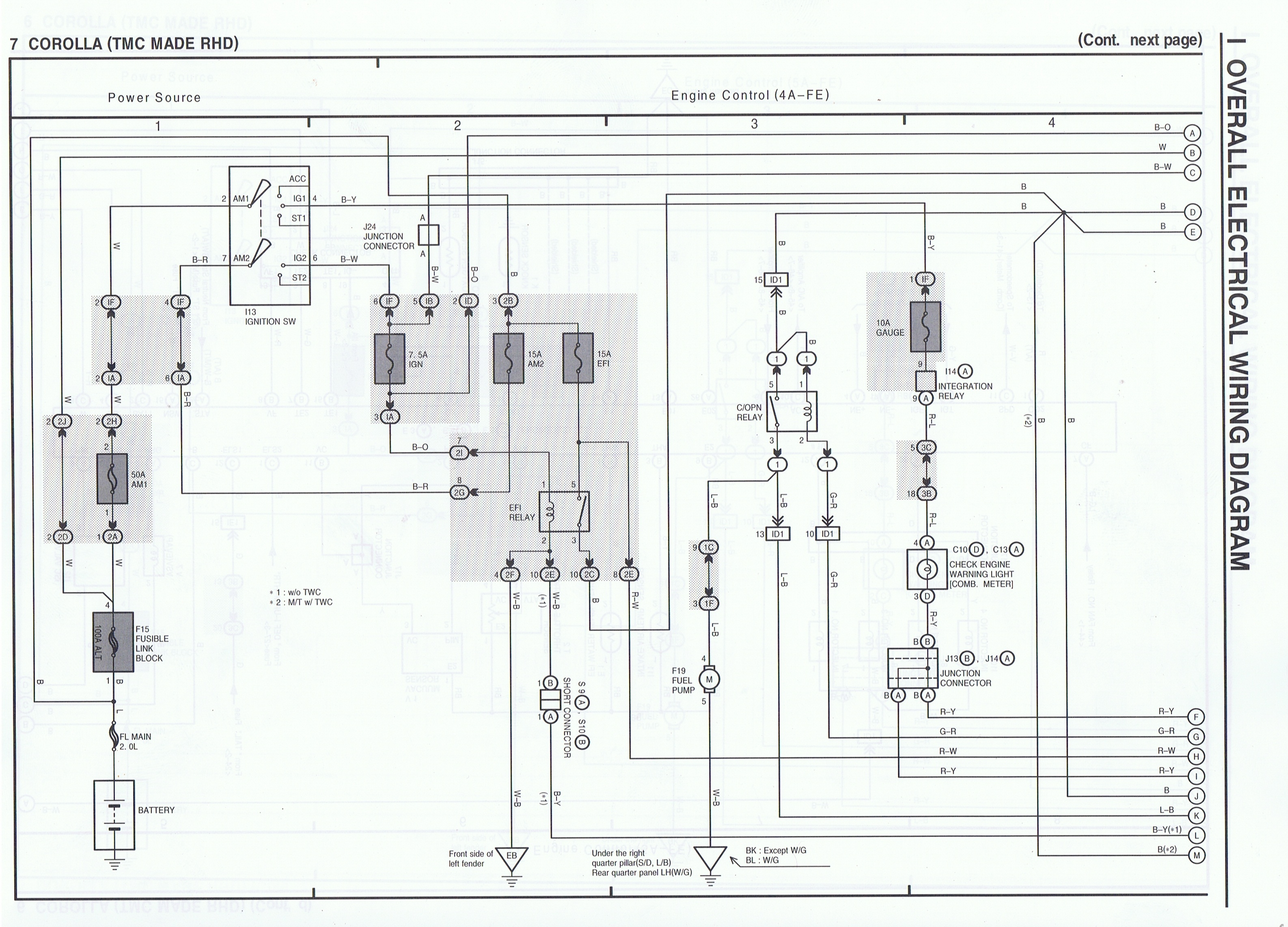 Toyota Ae111  4age  Advanced  Electrical Wiring Diagrams
