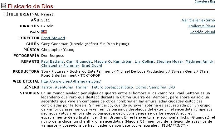El sicario de Dios (2011) [Ts-Screener HQ][Aventuras/Terror]