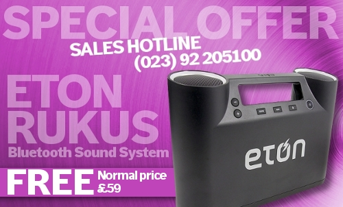 FREE Eton Rukus Bluetooth Sound System worth &pound;59